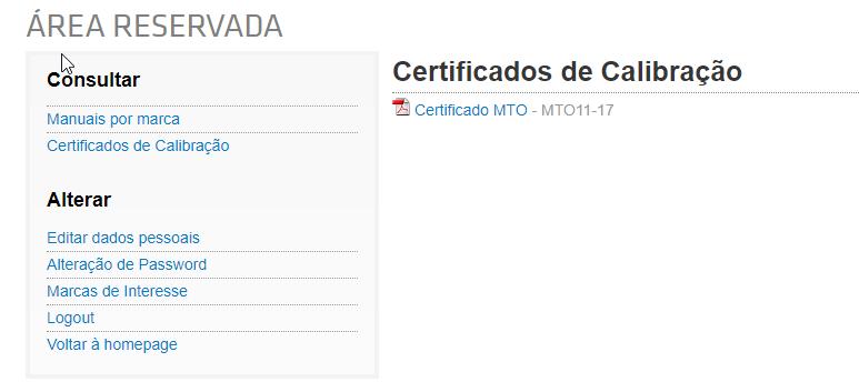 Certificados de Calibração e Verificação Online!