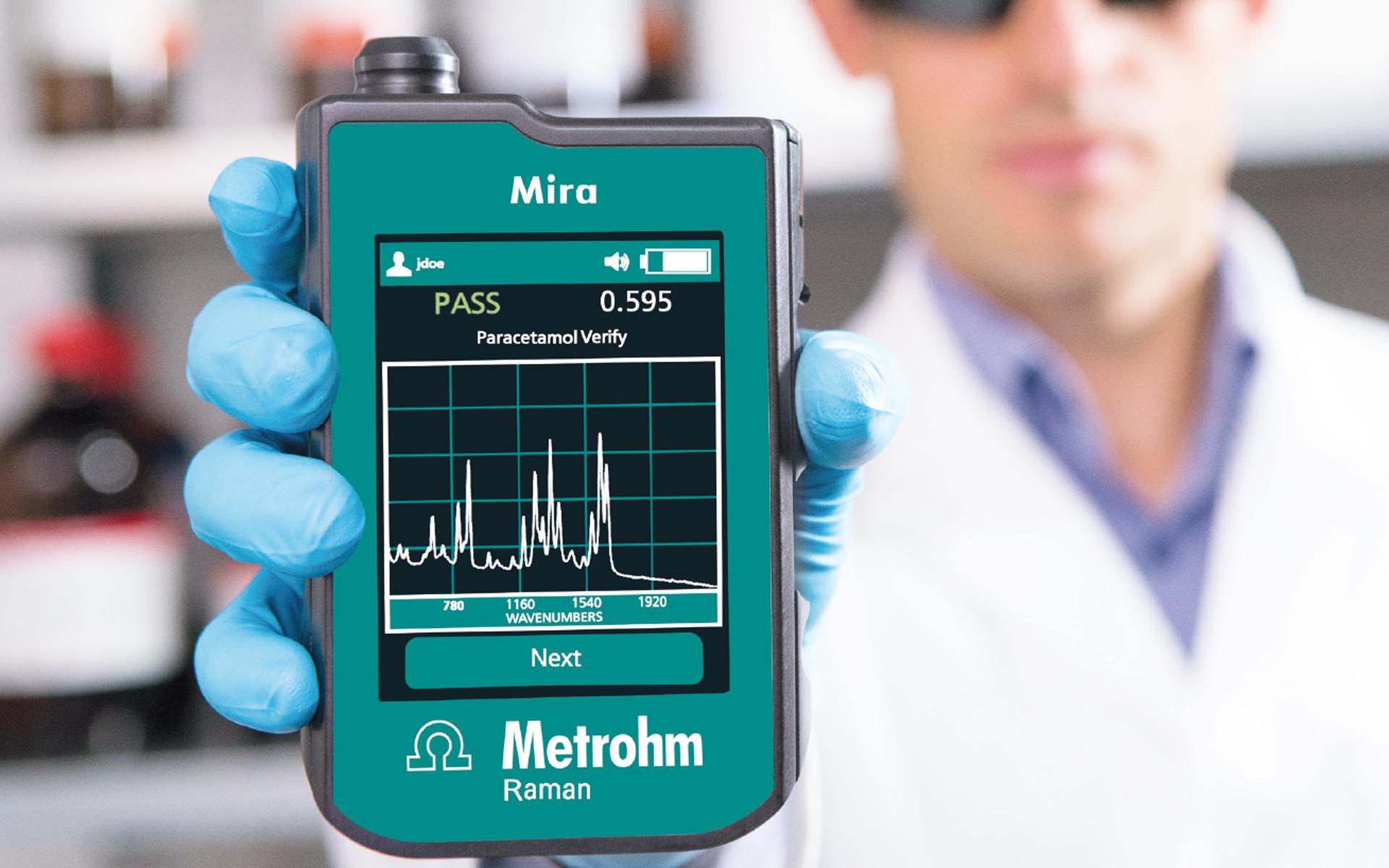 Mira P para a indústria farmacêutica: verificação instantânea no local das matérias-primas
