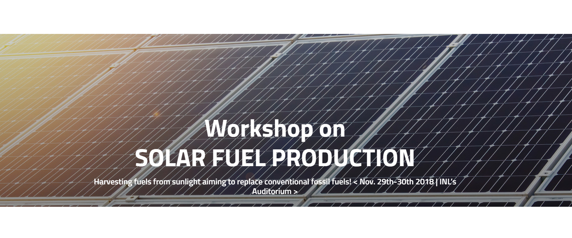 Workshop SOLAR FUEL PRODUCTION